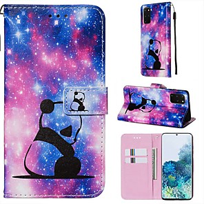 cheap Samsung Case-Case For Samsung Galaxy A90/Galaxy A80/Galaxy A50s Wallet / Card Holder / with Stand Full Body Cases Panda PU Leather For Galaxy A51/A71/S20/S20 Plus/S20 Ultra/A10S/A20S/A30S