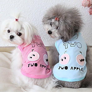 cheap Dog Clothes-Dog Costume Vest Dog Clothes Breathable Pink Blue Costume Beagle Bichon Frise Chihuahua Cotton Stripes Quotes & Sayings Casual / Sporty Cute XS S M L XL