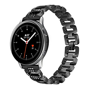 cheap Smartwatch Bands-20mm Strap for Samsung Galaxy Watch Active 2 Watch Straps Rhinestones Metal Bands