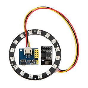 cheap Displays-WS2812 Light Ring Electronic Maker Student Education ESP8266 ESP01S 01 RGB LED