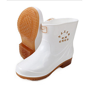 cheap Shoes Covers & Rainshoes-Men's PVC Spring & Summer Boots Waterproof Booties / Ankle Boots White