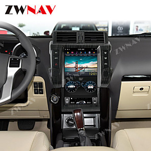 cheap Car DVD Players-ZWNAV 13.5inch 1din 4GB 64GB PX6 Tesla style Android 8.1 Car GPS Navigation Car multimedia Player Car MP5 Player radio tape recorder For TOYOTA Land Cruiser Prado 150 2014-17