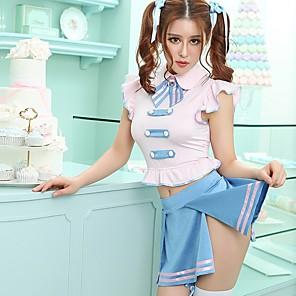 cheap Anime Costumes-Uniforms Student / School Uniform Adults' Women's Skirt Outfits For Terylene Masquerade Skirt Zentai