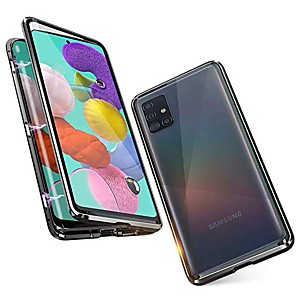 cheap Samsung Case-Magnetic Case For Samsung Galaxy A51 / M40S / A71 Shockproof / Water Resistant / Transparent Tempered Glass / Metal Case For Samsung Galaxy S20 Plus / Note 10 Plus / S10 Plus / A30 /A40 / S20 Ultra