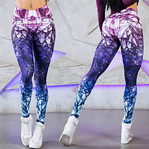 cheap Women's Running Tights & Leggings-Women's High Waist Running Tights Leggings Compression Pants Sports & Outdoor Pants / Trousers Base Layer Leggings Stylish Elastane Fitness Gym Workout Running Jogging Training Tummy Control Butt