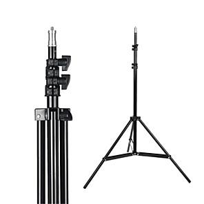 cheap Bookshelf Speakers-2.1m Light Stand Tripod With 1/4 Screw Head with Camera Tripod Lamp Holder Flash Bracket for Godox Flash video light DSLR Camera