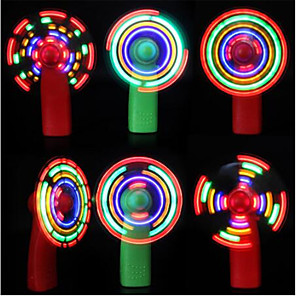 cheap Household Appliances-Mini Handheld Electric Cooling Fan 4 Color Changing LED Light Concert Props used as a celebration or party celebration toy