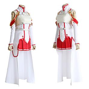 povoljno Anime kostimi-Inspirirana SAO Swords Art Online Asuna Yuuki Anime Cosplay nošnje Japanski Cosplay Suits Haljina Čarape Za Žene