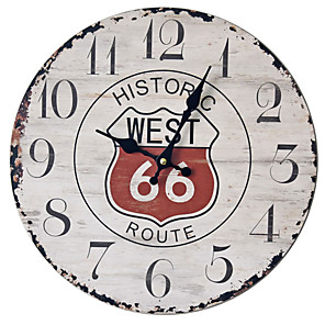 cheap Wall Clocks-1pcs Retro Wall Clock Nostalgic Wall Decoration Clock