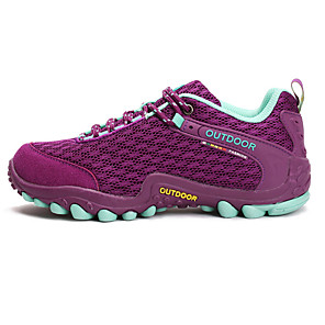 cheap Softshell, Fleece & Hiking Jackets-Women's Hiking Shoes Mountaineer Shoes Breathable Anti-Slip Wearproof Camping / Hiking Hunting Hiking Spring Summer Fall Purple Pink Grey / Climbing