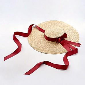 cheap Latin Dancewear-Straw Hats with Split Joint 1 Piece Sports & Outdoor Headpiece