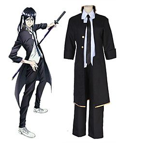 cheap Anime Costumes-Inspired by K Kuroh Yatogami Anime Cosplay Costumes Japanese Cosplay Suits Pants Cloak Tie For Men's Women's