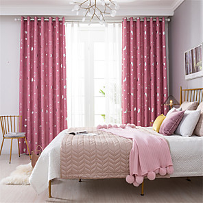 cheap Curtains Drapes-Gyrohome 1PC Big Star Moons Shading High Blackout Curtain Drape Window Home Balcony Dec Children Door *Customizable* Living Room Bedroom Dining Room