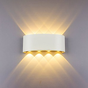 cheap Outdoor Wall Lights-Wall Lamp Led Aluminum Outdoor Indoor Ip65 Up Down White Black Modern For Home Stairs Bedroom Bedside Bathroom Light