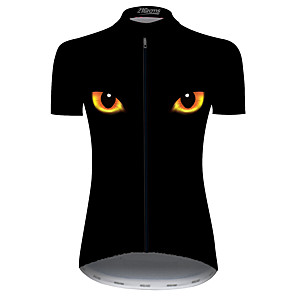 cheap Cycling Jerseys-21Grams Women's Short Sleeve Cycling Jersey Black / Yellow Bike Jersey Top Mountain Bike MTB Road Bike Cycling UV Resistant Breathable Quick Dry Sports Clothing Apparel / Stretchy / Race Fit