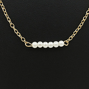 cheap Video Door Phone Systems-Women's Necklace Friends European Romantic Casual / Sporty Sweet Chrome White Gold 44 cm Necklace Jewelry 1pc For Street Festival