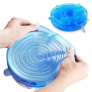 cheap Kitchen Utensils & Gadgets-24 Pcs Silicone Stretch Lids Reusable Airtight Food Wrap Covers 12 Pcs 6 Pcs Keeping Fresh Seal Bowl Stretchy Wrap Cover Kitchen Cookware