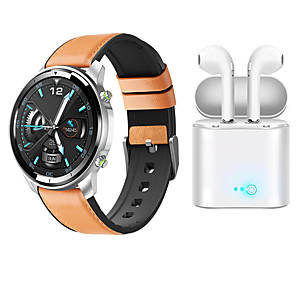 cheap Smart Wristbands-H15 Smartwatch for Samsung/ iPhone/ Android Phones, Bluetooth Fitness Tracker with TWS Headphones Support Heart Rate/ Blood Pressure Measurement