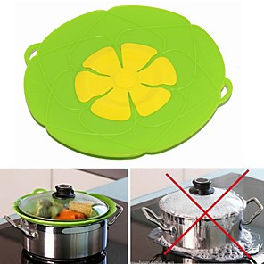 cheap Cleaning Protection-Silicone lid Spill Stopper Cover For Pot Pan Kitchen Accessories Cooking Tools Flower Cookware Utensil