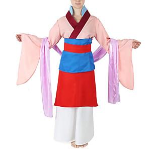 cheap Movie & TV Theme Costumes-Mulan Outfits Women's Movie Cosplay Hanfu Pink Skirt Halloween Terylene