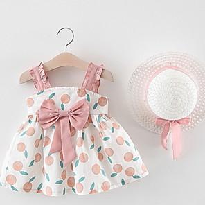 cheap Clearance-Baby Girls' Basic Fruit Sleeveless Dress Yellow