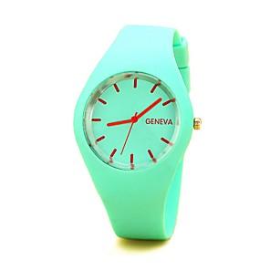 cheap Synthetic Trendy Wigs-Women's Quartz Watches Casual Fashion Silicone Chinese Quartz White Black Blue Cute 1 pc Analog
