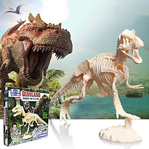 cheap 3D Puzzles-3D Puzzle Dinosaur Fossil Dinosaur Figure Dinosaur Animals Adorable Parent-Child Interaction Plastic Kid's All Toy Gift