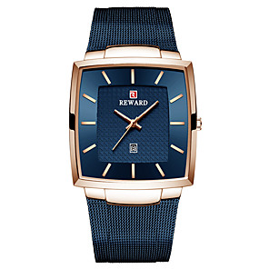 cheap Quartz Watches-Men's Dress Watch Japanese Quartz Stainless Steel 30 m Water Resistant / Waterproof Calendar / date / day Day Date Analog Elegant Fashion - Blue White Black One Year Battery Life