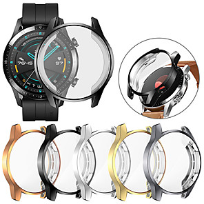 cheap Smartwatch Bands-Screen Protector Cover Case For Huawei Watch GT 2 46mm Case For GT2 Soft Tpu Scratch-resistant Shell Lightweight Thin Bumper Accessories Case For Huawei Watch GT 2 46mm