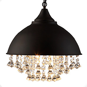 cheap Pendant Lights-American Country Retro Industrial Style Dining Room Hall Bar Creative Crack Paint Personality Crystal Chandelier110-120v / 220-240v