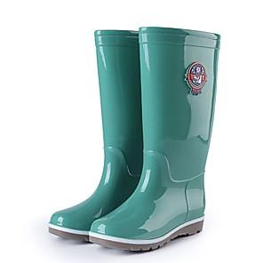 cheap Shoes Covers & Rainshoes-Men's PU Winter Boots Waterproof Knee High Boots Green / Blue