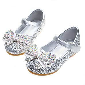 cheap Clutches & Evening Bags-Girls' Comfort / Flower Girl Shoes PU Sandals Dress Shoes Little Kids(4-7ys) / Big Kids(7years +) Rhinestone / Sparkling Glitter / Sequin Pink / Gold / Blue Fall / Winter / Party & Evening / Rubber