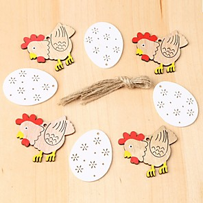 cheap Christmas Decorations-Happy Easter bunny egg Holiday Decorations wood DECORATIVE SET