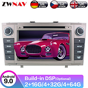 cheap Car DVD Players-ZWNAV 7inch 2din 4GB 64GB Android 9 Car DVD Player GPS Navigation Car Multimedia Player radio tape recorder IPS Autoradio for Toyota Avensis T27 2009-2015
