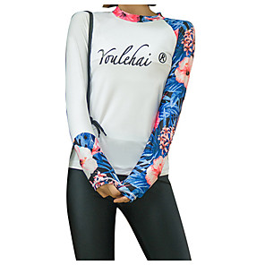 cheap Smart Wristbands-Women's Rash Guard Dive Skin Suit Diving Suit UV Sun Protection Anatomic Design Full Body 3-Piece - Diving Water Sports Painting Summer / Micro-elastic