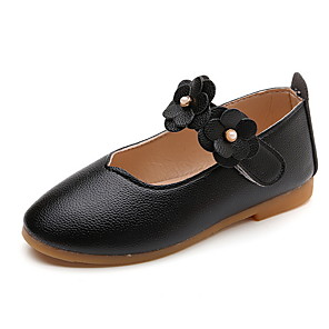 cheap Kids' Sandals-Girls' Sandals Comfort PU Little Kids(4-7ys) White / Black / Red Spring
