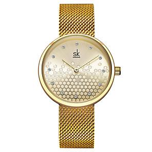 cheap Quartz Watches-Women's Quartz Watches Classic Fashion Stainless Steel Japanese Quartz Yellow White Water Resistant / Waterproof 30 m 1 pc Analog One Year Battery Life