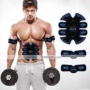cheap Fitness Gear & Accessories-Abs Stimulator Abdominal Toning Belt EMS Abs Trainer Sports Silicon PU (Polyurethane) ABS Resin Exercise & Fitness Gym Workout Smart Electronic Muscle Toner Muscle Toning Tummy Fat Burner For Men