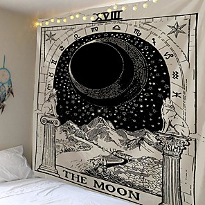 cheap Wall Tapestries-Tarot Divination Wall Tapestry Art Decor Blanket Curtain Picnic Tablecloth Hanging Home Bedroom Living Room Dorm Decoration Mysterious Bohemian Moon Galaxy