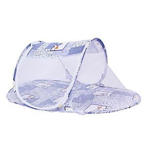 cheap Mosquito Nets-Baby Infant Bedding Crib Netting Portable Foldable Baby Mosquito Nets Bed Mattress Pillow Mosquito Net Tent Baby Infant Bed Dot Zipper Crib Sleeping Cushion collapsible portable