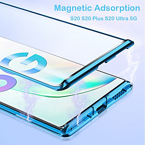 cheap Samsung Case-Case For Samsung Galaxy S20 Plus / S20 Ultra / S20 Magnetic Full Body Cases Solid Colored Tempered Glass / Metal