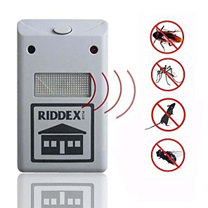 cheap Video Door Phone Systems-Riddex Plus Pest Repellent Repelling Aid For Rodent Roaches Ants Spider Pest Repellent Electronic Ultrasonic Only Suitable for Europe