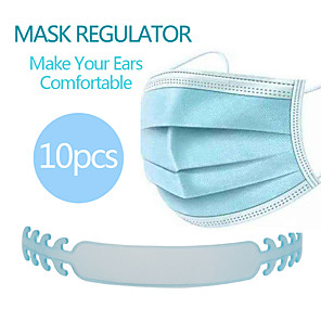 cheap Mobile Phone Sterilizer-10pcs Mask Accessories Mask Extender Universal Mask Size Extending Hook Child Adult Slip Wearing Masks Snap Extender Headphone Cable Winder Charging Cable Winder Random Color