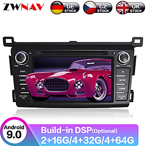 cheap Car DVD Players-ZWNAV 7inch 2din 4GB 64GB DSP Auto stereo Android 9.0 Car GPS Navigation Auto Car Multimedia Player Radio recorder Car DVD player For Toyota RAV4 2013-2015