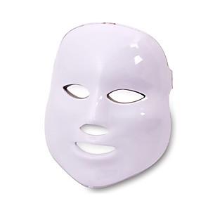 povoljno Jastuci-led maska za lice, newkey led svjetlosna terapija 7 boja za njegu kože lica - s klinički dokazanom plavom bojom&tretman crvenim svjetlom protiv akni fotonska maska