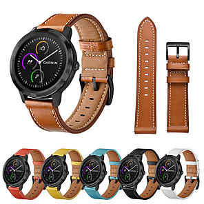 cheap Smartwatch Bands-Watch Band for Garmin Vivoactive 3 / Garmin Forerunner245 / Garmin Venu Garmin Classic Buckle / Modern Buckle / Business Band Quilted PU Leather Wrist Strap for Garmin Vivoactive 3