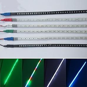 cheap OBD-30cm 2Pcs Car Strobe Flash Decoration Strip COB LED DRL LED Flexible Strips Knight Rider Light 100% Waterproof