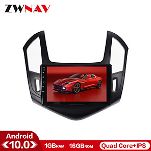 cheap Car DVD Players-ZWNAV 10.1inch 1din Android 10.0 Octa Core 1G 16GB Auto radio Car GPS Navigation Car MP5 Player Steering Wheel Control Car Multimedia Player Stereo Mirror Link WiFi for Chevrolet Cruze 2013-2016