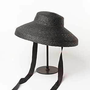 cheap Party Hats-Straw Hats with Rattan 1 Piece Casual / Outdoor Headpiece