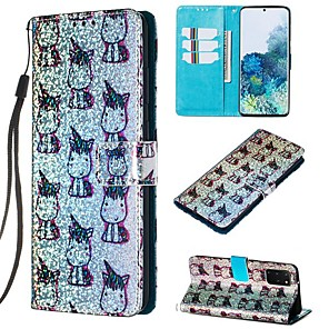 cheap Samsung Case-Case For Samsung Galaxy A50/Galaxy Note 10 / Galaxy Note 10 Plus Wallet / Card Holder / with Stand Full Body Cases Animal PU Leather For Galaxy S20/S20 Plus/S20 Ultra/A50S/A30S/A71